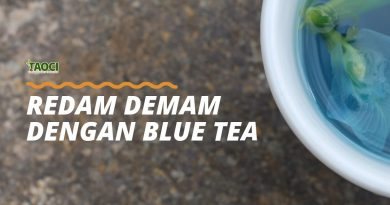 Redam Demam dengan Blue Tea