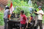 Tanam Kelor pinggir jalan desa Bandung Odesa Indonesia